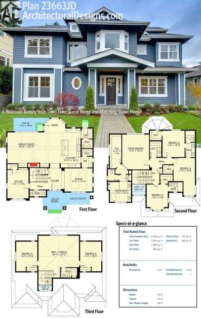 Awesome Best 25 6 Bedroom House Plans Ideas On Pinterest House Floor Image Of 3D 6bedroom Floor Plan Picture