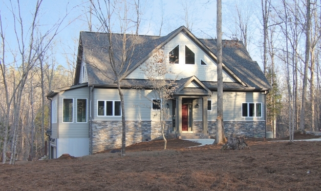 Awesome Half Stone House Architecture Using Light Grey Exterior Paint And Half Stone House Photos