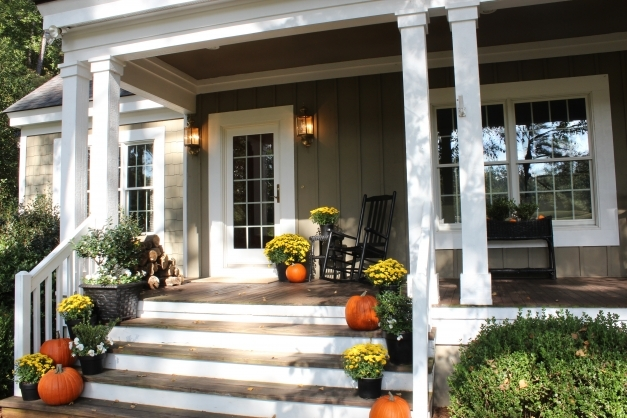 Awesome Outdoor Wood Stair Railing Ideas Home Design Exterior Loversiq Entrance Porch Designs Pic