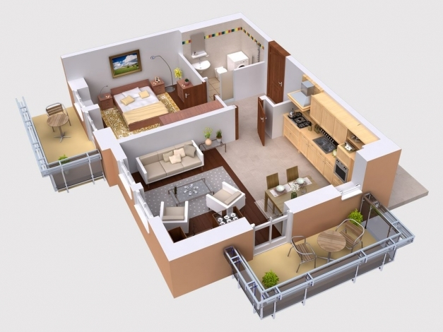 Awesome Three Bedroom House Plans Kerala Style Bhk Plan In Sq Ft Modern Buiding Plans On A Half Plot Picture