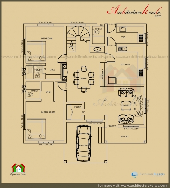 Best 2500 Sq Ft 3 Bedroom House Plan With Pooja Room Architecture Kerala Architecture 3 Bedroom House Photo