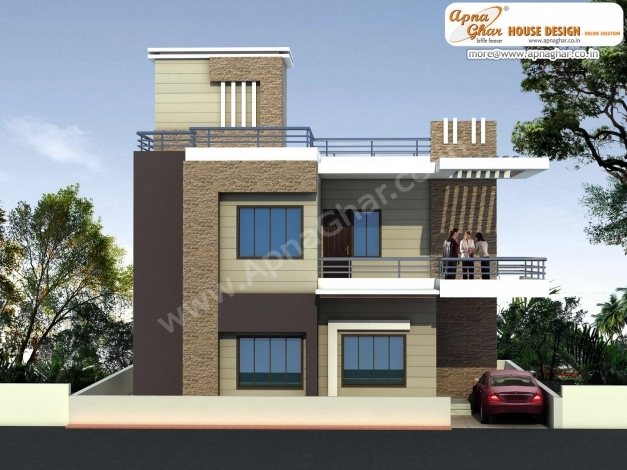 Best Front Elevation Of Duplex House In Trends 1500 Square Fit Latest 3d Modern Duplex Picture