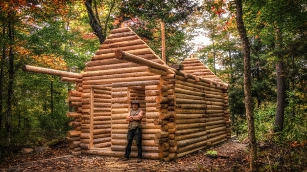 Best Log Cabin Build You Can Do This Too Youtube Log Cabin Build Pictures