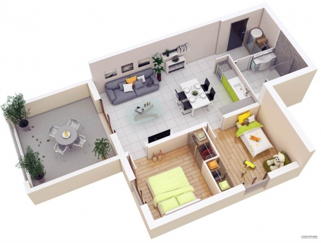 Best Smallom House Plans Home Design Floor Plan 80555pm Cottage Under 3d Images Of 2 Bedroom House In The Phil Photos
