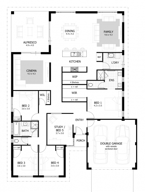 Delightful 4 Bedroom House Plans Home Designs Celebration Homes 4 Bedroom Plans For A House Photos