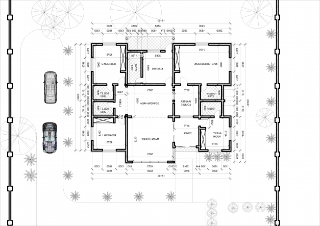Delightful Architectural Designs For 4 Bedroom Bungalow Home Combo 4 Bedroom Bungalow Design By Architect Photo