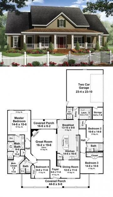 Delightful Best 25 Country House Plans Ideas On Pinterest 4 Bedroom House 3 Bedroom House Plans On Half Plot Of Land Picture