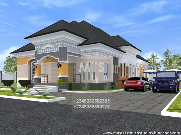 Delightful Mr Caesar 4 Bedroom Bungalow Residential Homes And Public Designs 4 Bedroom Bungalow Design By Architect Photos