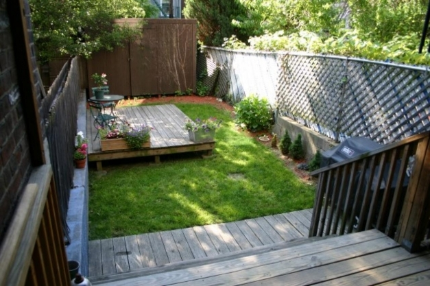 Delightful Small Spaces Backyard Landscape House With Deck And Patio Outdoor Planter Box Ideas Landscaping Picture