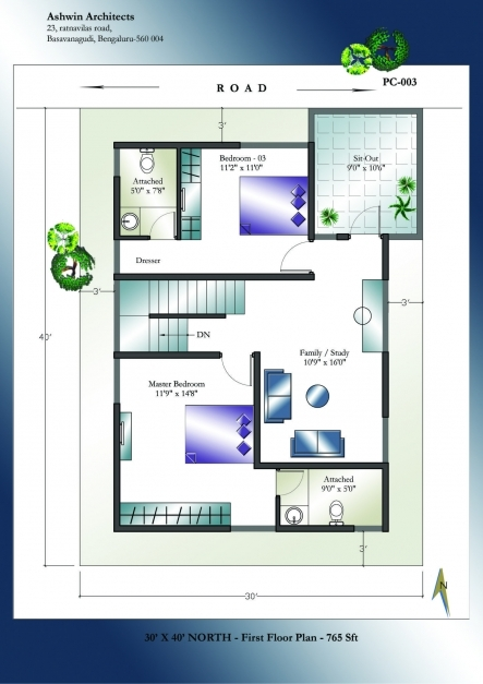 Fantastic Indian House Plan South Facing Sensational X Plans North Pre Charvoo North Facing House Pictures