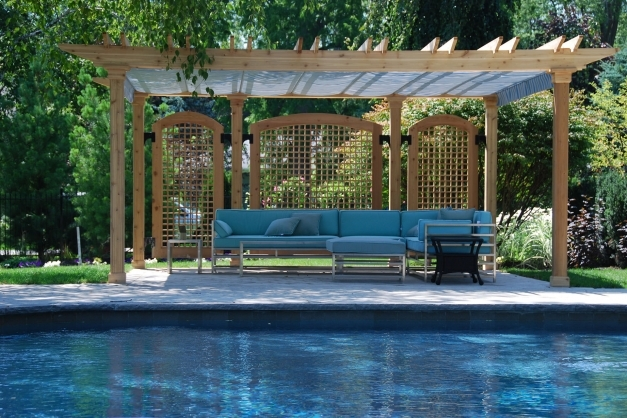 Fantastic Pool Shade Ideas 7 Ways To Cover Your Swimming Pool Pool Pergola Designs Picture