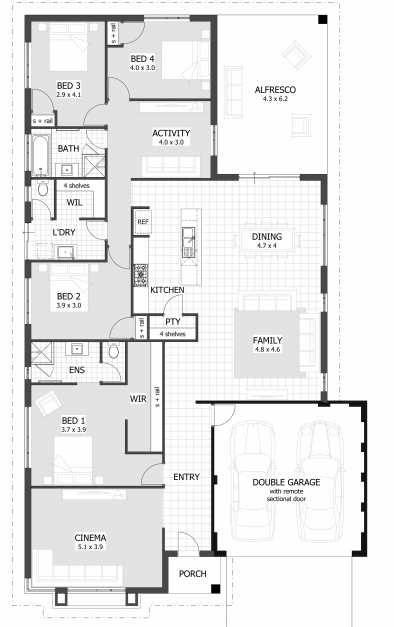 Fascinating 4 Bedroom House Plans Home Designs Celebration Homes 4 Bedroom Plans For A House Pics
