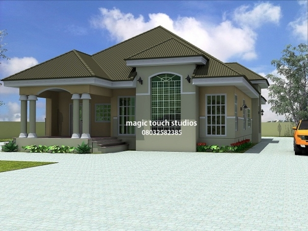 Fascinating 42 Floor Plans And Design Houses Nigeria Bedroom Bungalow Houses Building Plans In Nigeria Image