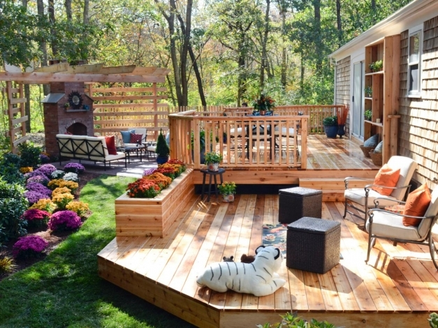 Fascinating Design Ideas For Deck Planter Boxes Diy Planter Box Ideas Landscaping Pictures
