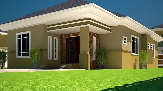Fascinating House Plans Ghana 3 Bedroom House Plan For A Half Plot In Ghana Buiding Plans On A Half Plot Picture