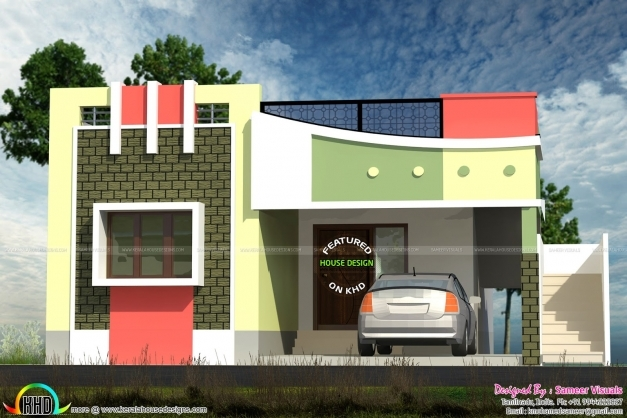 Fascinating Small Tamilnadu Style Home Design Kerala Home Design And Indian Small House Plans Indian Style Photos