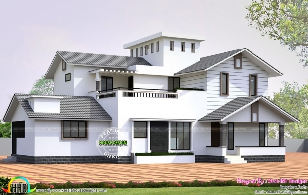 Fascinating Surprising Kerala House Design Images 13 On Home Wallpaper With Kerala House Images Images