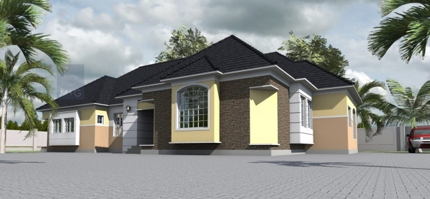 Gorgeous Contemporary Nigerian Residential Architecture 4 Bedroom Bungalow 4 Bedroom Bungalow Design By Architect Photos