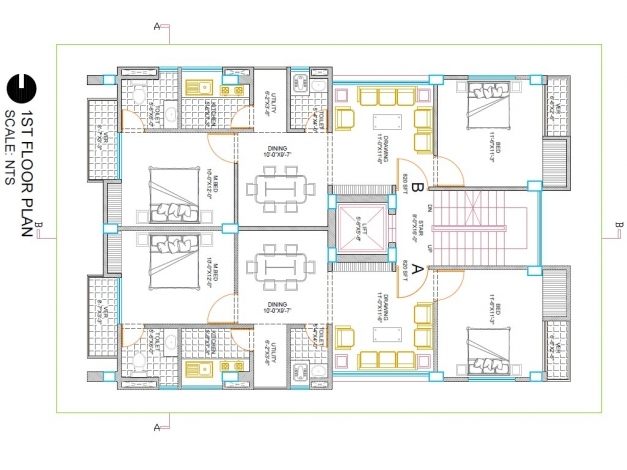 Gorgeous I Will Create Your Building 2d Floor Plan In Autocad Fiverr Gig Autocad 2d Plan Images Images