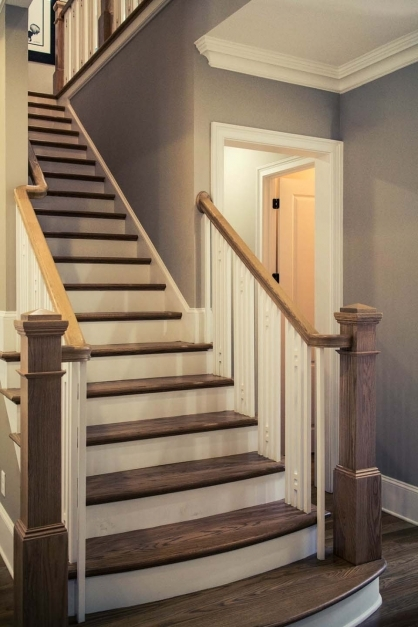 Incredible Craftsman Staircase Design Artistic Stairs Craftsman Railings Picture