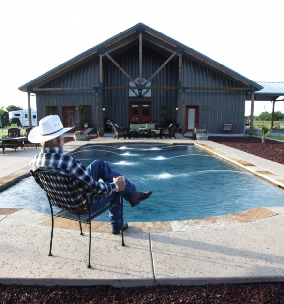 Incredible Full Metal Building Home With Epic Pool Stable 10 Hq Pictures Metal Buildinghomes Pics