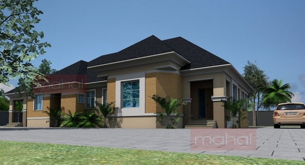 Marvelous Contemporary Nigerian Residential Architecture 4 Bedroom Bungalow 4 Bedroom Bungalow Design By Architect Photo