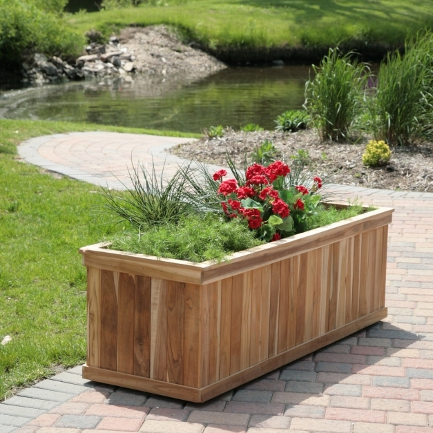 Marvelous How To Make Rectangular Planter Box Home Decorations Insight Planter Box Ideas Landscaping Photo