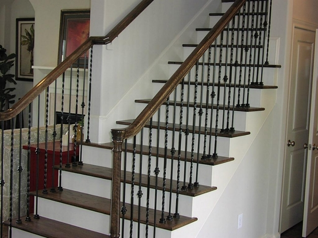 Marvelous Stair Astonishing House Design Ideas With Wood And Wrought Iron Wrought Iron Stair Designs Photo