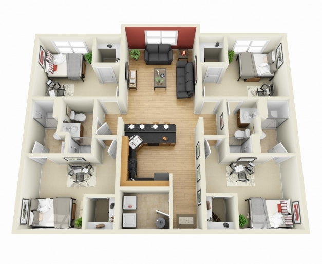 Outstanding 4 Room Apartment Shoise 4 Bedroom Houses Inside Pictures