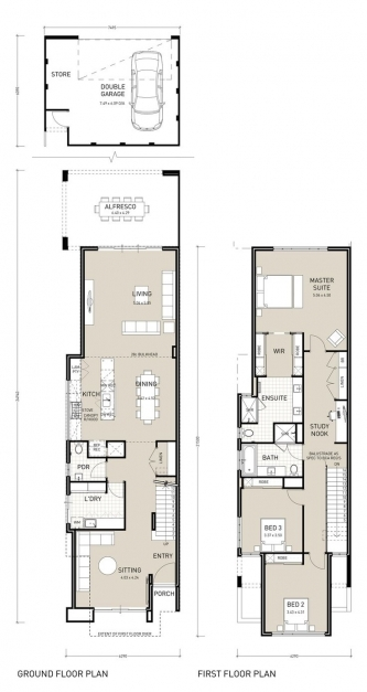 Outstanding Best 25 Narrow House Plans Ideas On Pinterest Narrow Lot House 3 Bedroom House Plans On Half Plot Of Land Pic