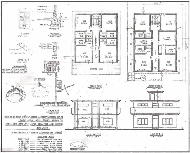 Outstanding Building Drawing Plan Elevation Drawing House Plans Home Design Residential Building Plans And Elevations Images