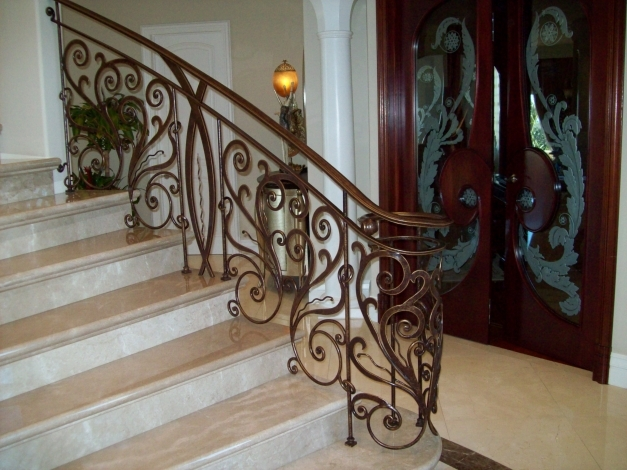 Outstanding Exterior Wrought Iron Stair Railing Design Best Iron Stair Wrought Iron Stair Designs Pics