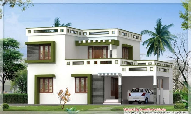 Outstanding Latest Kerala Square House Design At 1700 Sqft Kerala House Images Pic