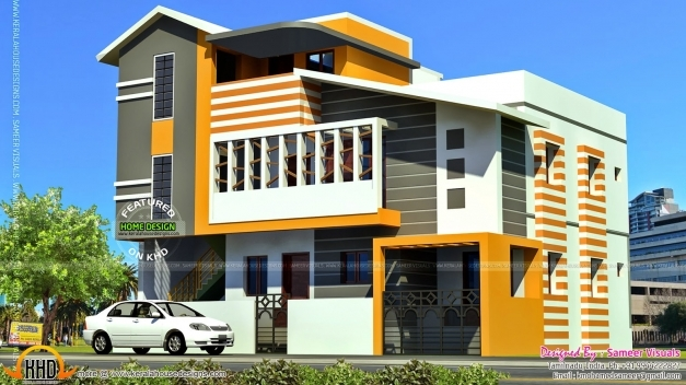 Outstanding South Indian Contemporary Home Kerala Home Design And Floor Plans South India Elevation Images