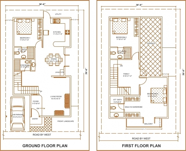 Remarkable 30 X 50 House Floor Plans Corglife 100 Home Design 60 Map Outsta 15 X 50 House Map Image