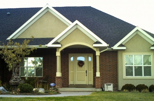 Remarkable Entry Door Matched To Stucco Colors Stucco And Siding Exterior Wall Colours That Match With A Tile Red Roof Photos