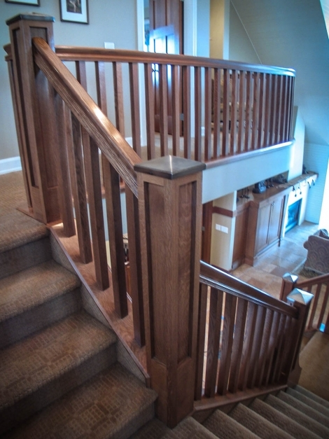 Remarkable Mission Style Staircase Railings Artistic Stairs Craftsman Railings Photos