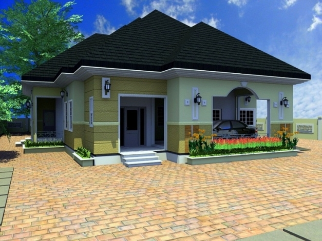 Remarkable Peaceful Design Architectural Designs Of Four Bedroom Bungalow 3 4 4 Bedroom Bungalow Design By Architect Photos