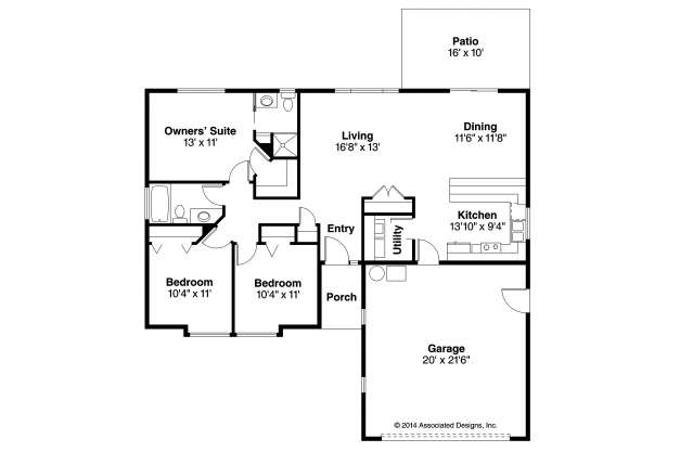 Remarkable Ranch House Plans Halsey 30 847 Associated Designs Compact House Plans Photo