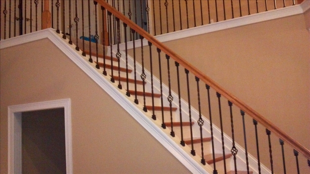 Remarkable Wrought Iron Staircase Spindles Dark Home Decorations Insight Wrought Iron Stair Designs Pictures