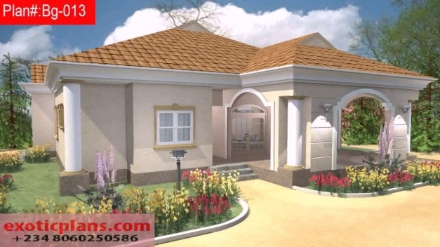 Stunning Free 4 Bedroom Bungalow House Plans In Nigeria Youtube Nigeria House Plan Images