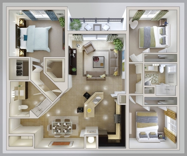 Stunning Modern House Interior Layout Inspirations Small Inside 3 Bedroom Architecture 3 Bedroom House Image