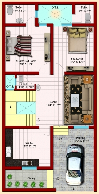 Stunning Sharma Property Real Estate Developer 15 X 50 House Map Pic