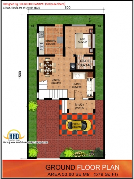 Stylish Gorgeous Ideas 11 House Plan Design For 20x60 Sq Ft 20 Feet X 60 Ideas For 15×50 Home Image