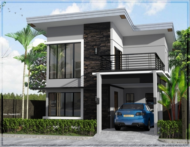 Stylish House Plan Small Two Floor Outstanding Maison Contemporaine Avec Outstanding Simple House Pics