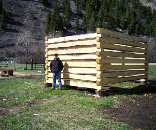 Wonderful How To Build A Log Cabin With Dovetail Notches 7 Steps With Log Cabin Build Pic
