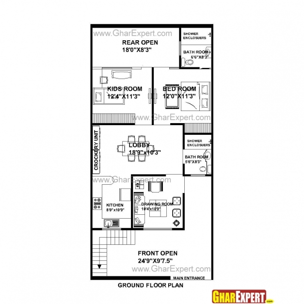 Amazing House Plan For 25 Feet 53 Plot Size 147 Square Yards X 50 Plans House Plan For 50 Feet By 50 Feet Plot Images