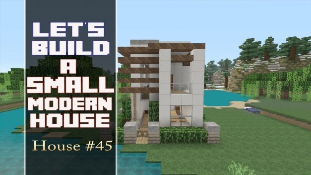 Amazing Lets Build A 15x15 Lot Modern House In Minecraft House 45 Youtube House Images 15by 45 Photo