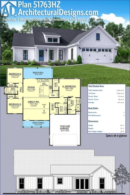 Awesome 168 Best Architecture Residential Images On Pinterest Master Modern Farmhouse Open Floor Plans Pic
