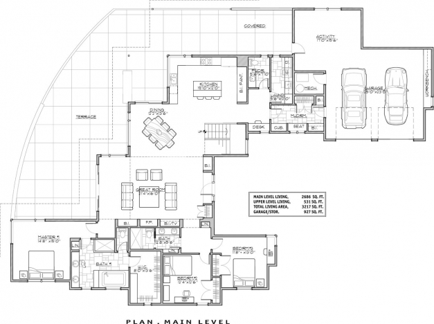 Awesome Contemporary House Plan With 3 Bedrooms And 35 Baths Plan 9044 Contemporary House Floor Plans Photo